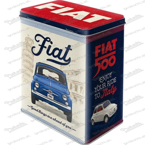 Fiat 500 – Good Things Are Ahead Of You – Vorratsdose mit 3D-Prägung