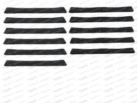 Sitzgummisatz 6 breite, 5 schmale