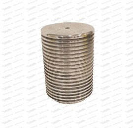 oil filter pot with cooling fins