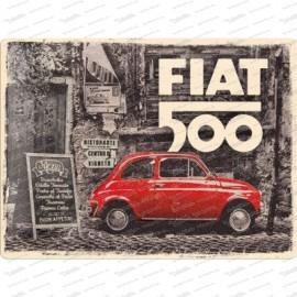 Fiat 500 Vintage - metal plate