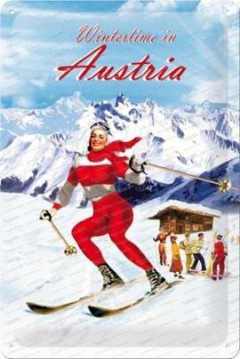 Wintertime in Austria – Metallschild