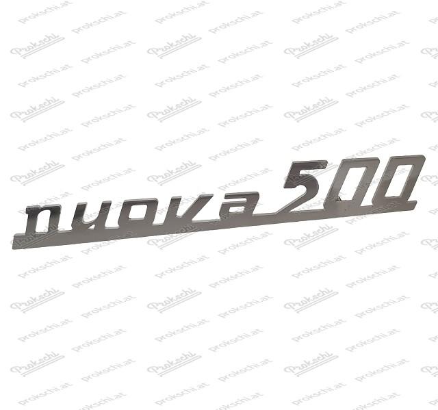 """Heckemblem """"Nuova 500"""", INOX Fiat 500 N/D"""