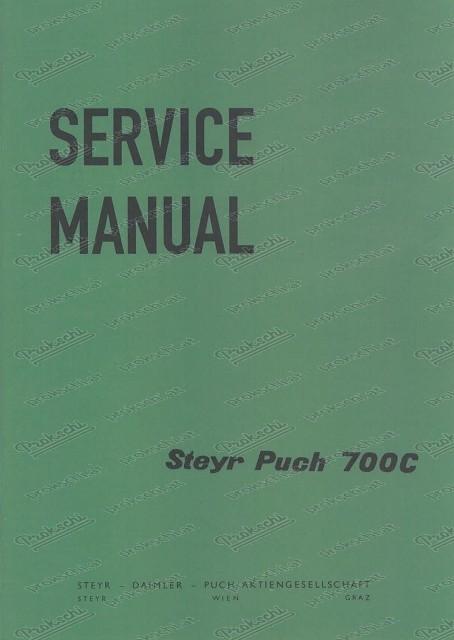 Steyr Puch 700 C Service Manual (Englisch)