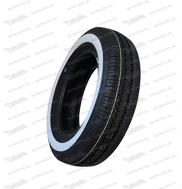 Reifen 125/80 R12 Weißwand (Dimax)