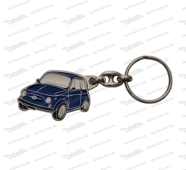 Schlüsselanhänger Fiat 500 blau