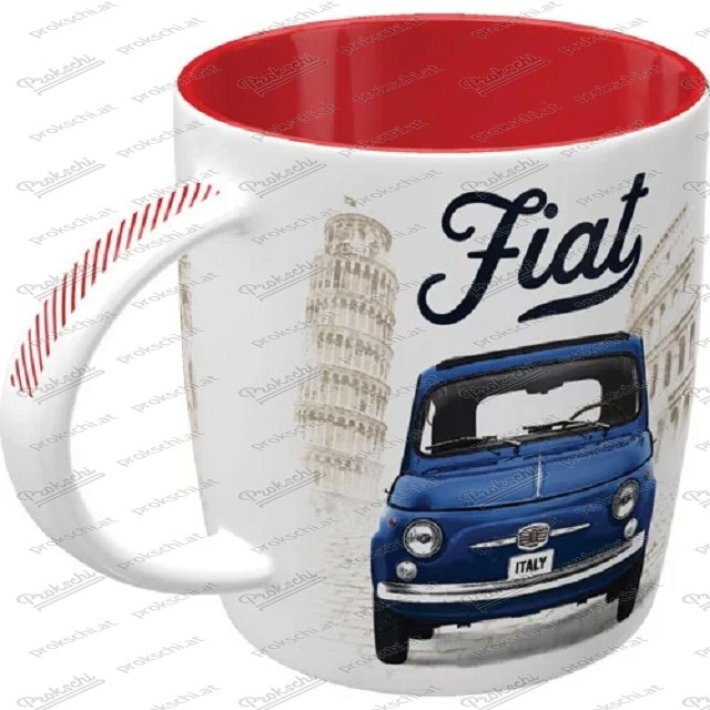 Fiat 500 – Enjoy the good times – Kaffeetasse