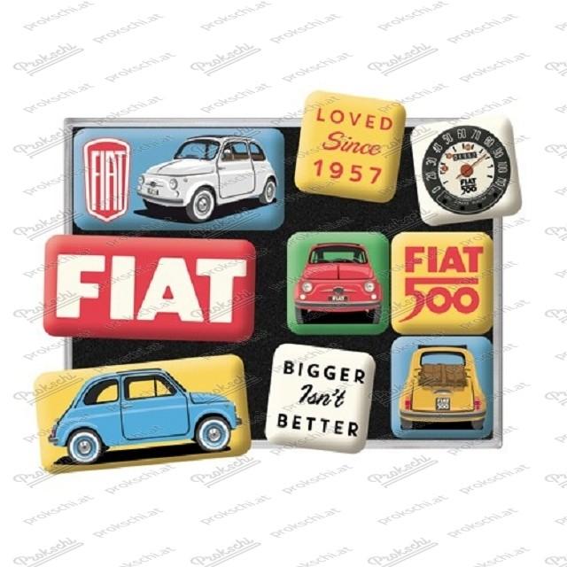 Fiat 500 – Magnetset 9-teilig