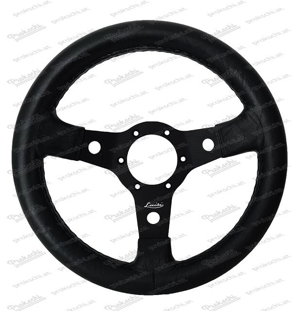 Polyurethan Sportlenkrad Nibbio 31 cm mit schwarzer Speiche