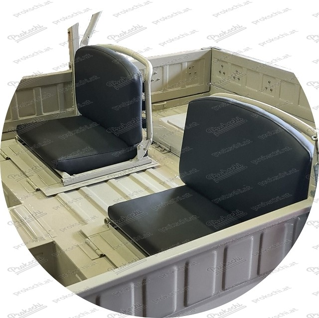 Haflinger Rücksitz Polsterung, schwarz
