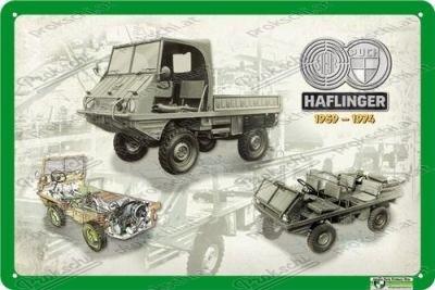 Puch Haflinger 1959 - 1974 - Metallschild