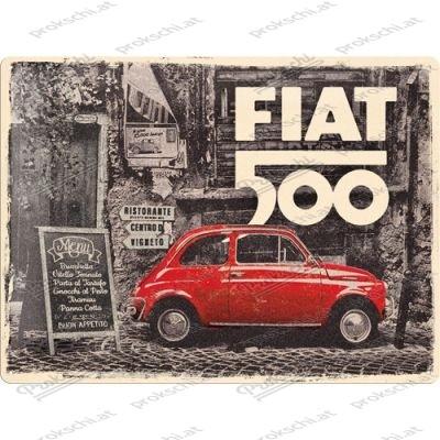 Fiat 500 Vintage - Metallschild
