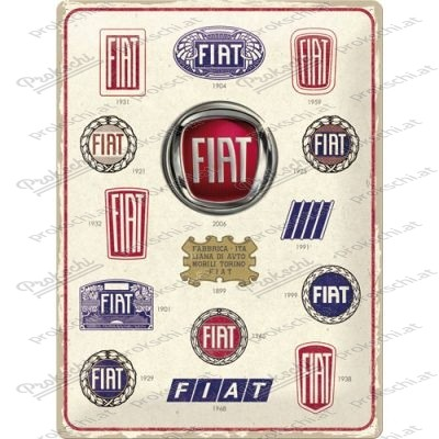 Fiat Logo Evolution - Metallschild