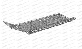 Gummimatte für gerade Bodenplatte, links