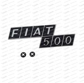 Heckemblem Fiat 500 F/R (Metall)