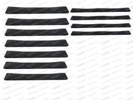 Sitzgummisatz 7 breite, 4 schmale