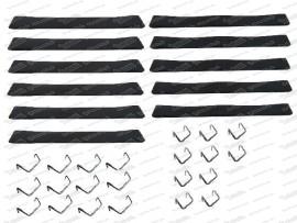 Sitzgummisatz 6 breite, 5 schmale inkl. Haken