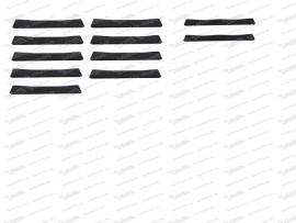 Sitzgummisatz 9 breite, 2 schmale