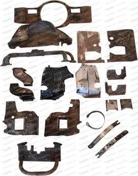 Sandstrahlen und Pulverbeschichten Motorbleche