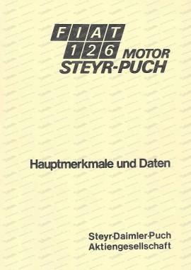 Hauptmerkmale & Daten Motor Fiat 126