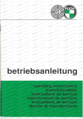 Steyr Puch Haflinger Betriebsanleitung (Englisch)