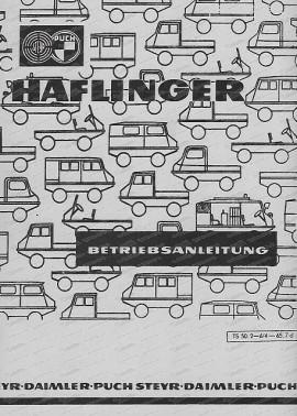 Haflinger Betriebsanleitung
