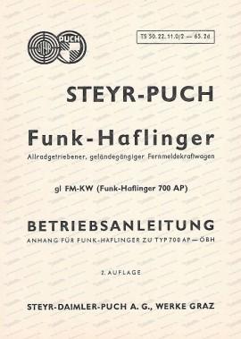 Funk-Haflinger 700 AP, Zusatz Betriebsanleitung