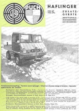 Zusatzgeräte für Haflinger 700 AP/APL