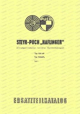 Ersatzteilkatalog/II Haflinger