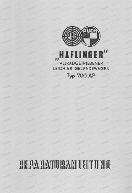 Reparaturanleitung Haflinger 700 AP