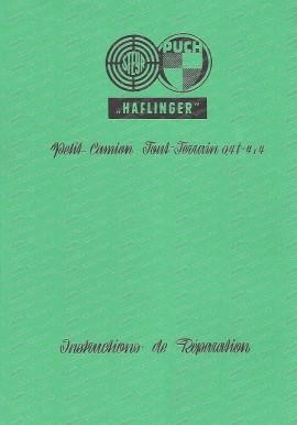 Reparaturanleitung Haflinger (Französisch)
