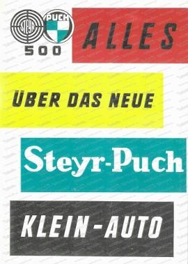 Alles über das neue Steyr Puch Kleinauto 1958