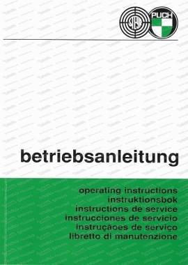 Steyr Puch Pinzgauer 710 und 712, 4 x 4, 6 x 6, Betriebsanleitung (Deutsch, Englisch, Französisch und Spanisch)