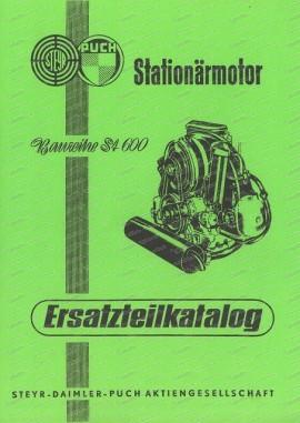 Ersatzteilkatalog für Steyr Puch Stationärmotor ST 600