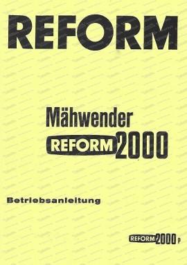 Reform 2000 Betriebsanleitung
