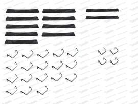 Sitzgummisatz 9 breite, 2 schmale inkl. Haken