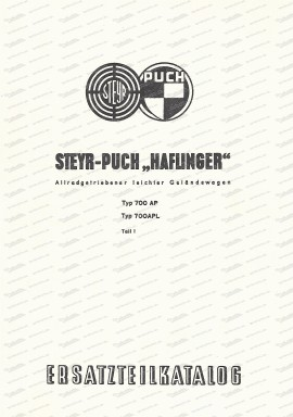Ersatzteilkatalog/I Haflinger