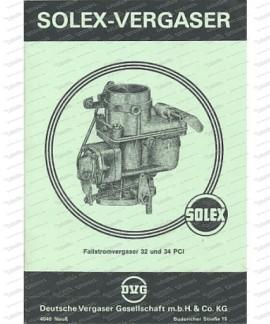 Solex 32 und 34 PCI Fallstromvergaser Beschreibung und Schnittzeichnungen