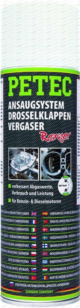 Ansaugsystem-, Drosselklappen- & Vergaserreiniger 500 ml Spray