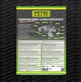 Karosserie-Dämm- & Schallschutzplatte - Bitumen, schwarz - 500 x 500 x ca. 2 mm Platte