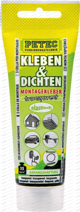 Kleben & Dichten Montagekleber transparent - 80 ml Tube