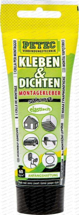 Kleben & Dichten Montagekleber schwarz - 80 ml Tube