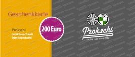 200 Euro Geschenkkarte