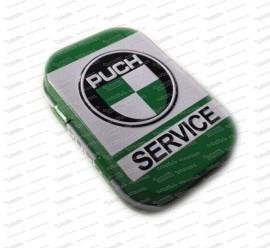 Puch Service Blechdose mit Mintbonbons 4 x 6 x 1,6cm