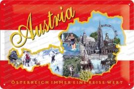 Austria immer eine Reise wert! – Metallschild