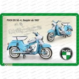 Puch DS 50-4 – Blechschild – 20x30cm