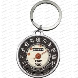 Fiat 500 – Tachometer – Schlüsselanhänger rund