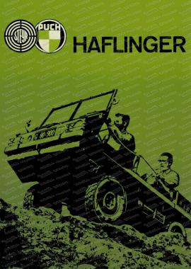 Steyr Puch Haflinger Poster, 70x50cm