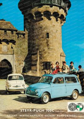 Steyr Puch 700 Poster, 70x50cm