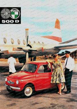 Steyr Puch 500 D Poster, 70x50cm