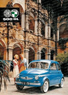 Steyr Puch 500 DL Poster, 70x50cm
